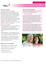 Breast Health Facts for Life - Getting Support You Need