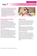 Breast Health Facts for Life - Life after Breast Cancer