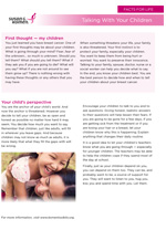 Breast Health Facts for Life - Talking with Your Children